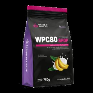 WPC80 odżywka białkowa bananowy 750g