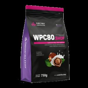 WPC80 odżywka białkowa orzech laskowy 750g