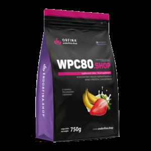 WPC80 odżywka białkowa truskawkowo – bananowy 750g