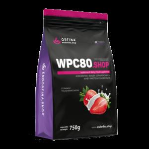 WPC80 odżywka białkowa truskawkowy 750g